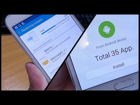 Moving / Transferring Apps to Samsung Galaxy S5 using Smart Switch