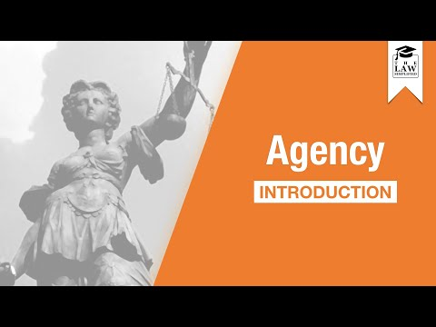 Commercial Law - Introduction to Agency