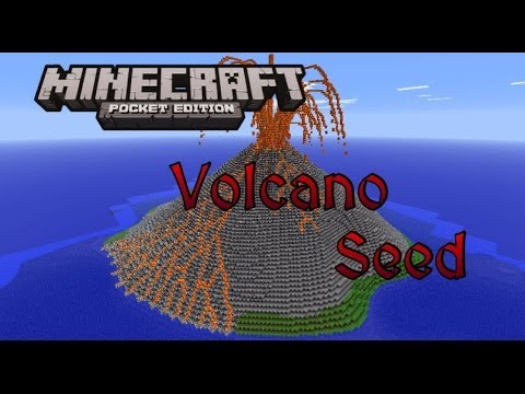 [Outdated] MCPE Volcano Crater Seed [0.8.1]