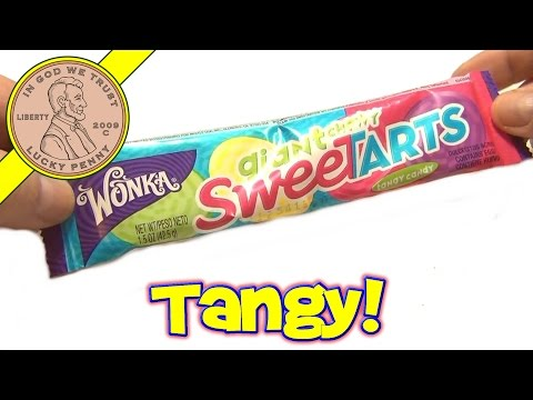 Wonka Giant Chewy Sweet Tarts - USA Candy Tasting