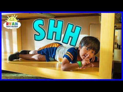 Best Hiding Spot in Disney Hotel!   Hide and Seek Pretend Play with Ryan!!!