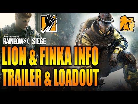 Rainbow Six Siege - In Depth: LION & FINKA - Info, Trailer & FULL Loadout!