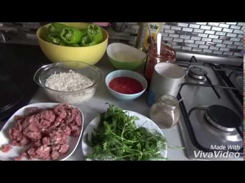 ФАРШИРОВАННЫЙ ПЕРЕЦ ПО -ТУРЕЦКИ. (DOLMA)  Турецкая кухня.