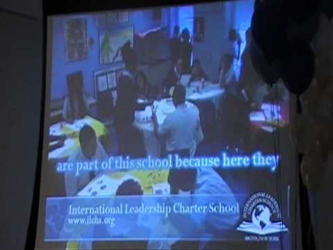 Daren Chambers in cuts of the International Leadership Charter School teaching in his art classroom