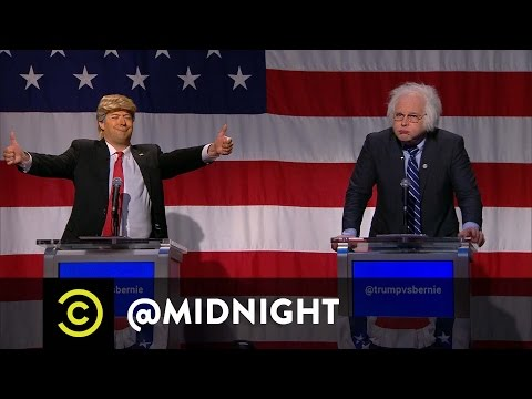 Trump vs. Bernie in the First Ever @midnight Presidential De