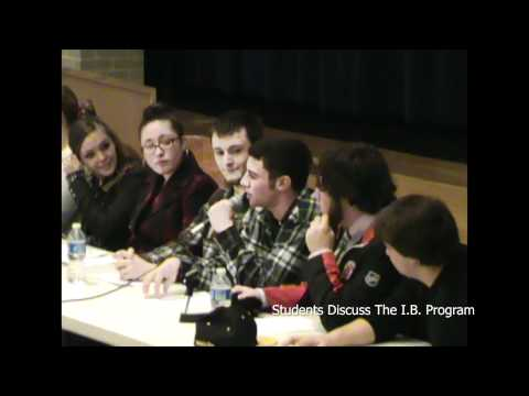 Student panel speaks about IB with Quabbin Regional High School faculty
