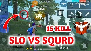 SLO VS SQURD FULL RUSH GAMEPLAY 15 KILL//GAMING SUBRATA