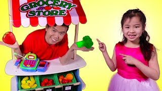 Jannie Buy Kitchen Toys Vegetables from The Supermarket - Fun Pretend Play