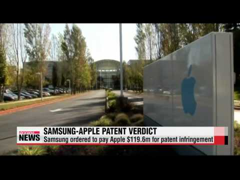 Samsung ordered to pay Apple $119 6m for patent infringement