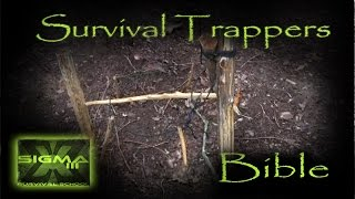 The Survival Trappers Bible Part 8 T Bar Snares