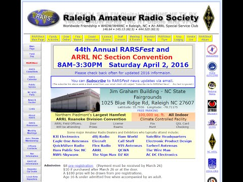 Raleigh Hamfest - RARSfest put on by the Raleigh Amateur Radio Society 4/2/2016
