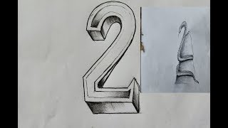 3 idea  From Number -Top creative  funny drawings pencil(A boy and geese and snake )