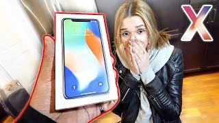 SURPRISING MY GIRLFRIEND WITH IPHONE X (EMOTIONAL)