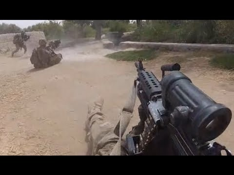 U.S. Army Patrol Ambushed in Panjwai District Kandahar - Helmet Cam Firefight
