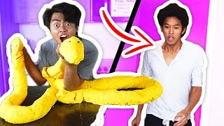 DIY How To Make GIANT PLAYDOH PYTHON PRANK!