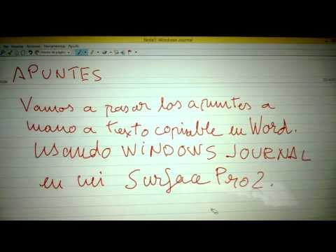 Pasa tus apuntes de escritura a mano a texto con Windows Journal y Surface Pro 2