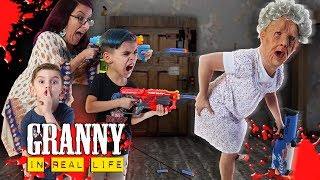 Granny In Real Life Nerf Hide And Seek Survival Funhouse Family