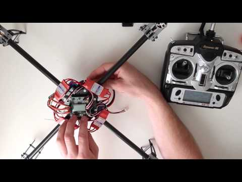 Basic Quadcopter Tutorial - Chapter 4 - KK2 Board. ESC Calibration. throttle range and props
