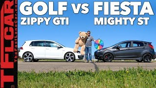 Game Show: Is the Volkswagen Golf GTI Faster Than A Ford First ST? Ep.3