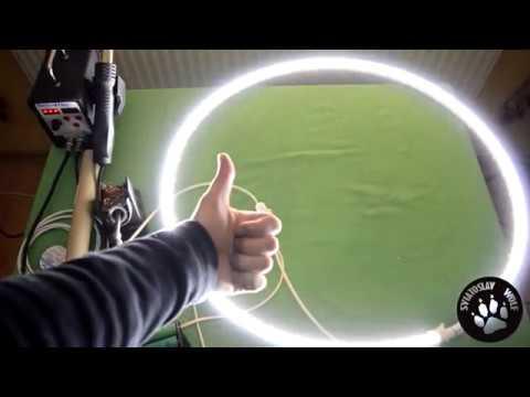 Как сделать кольцевой свет для фото/видео съемки DIY Ring light for photo