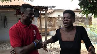 KWAKU MANU AGGRESSIVE INTERVIEW WITH A GHETTO LADY IN D.R.U.G