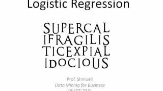 Logistic Regression: Part 1 (
