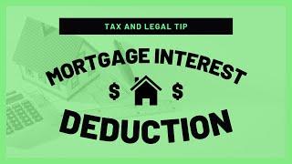Mortgage Interest Deduction | Mark J Kohler | Tax & Legal Tip