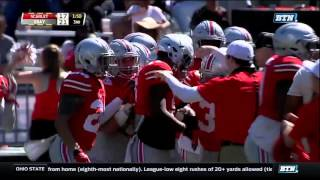 Jerome Baker One-Handed Interception - Ohio State Spring Football