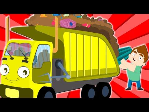 the wheels on garbage truck original rhyme nursery rhymes kids songs baby videos  kids tv S02 EP0137