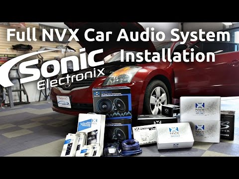 Car Audio Installation - 2008 Nissan Altima Full NVX System - Speakers. Subs + more