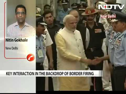 PM Modi meets top military commanders to review border situation