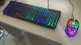 UNBOXING AND REVIEW OF NPET K70 GAMING KEYBOARD AND HEMZONE GAMING MOUSE