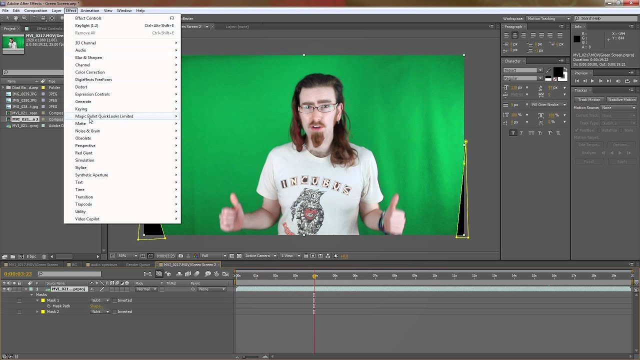 How to key out Green Screen in Adobe After Effects using ...