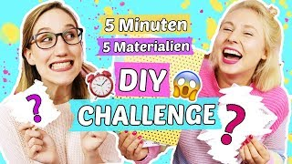 DIY CHALLENGE! ⏰5 MINUTEN - 5 MATERIALIEN 😱 CARO VS. LISA