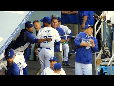 Ryu Soaked by Uribe 8-1-14 in Dodger Craziness Today