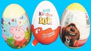 Huevos sorpresas en español la vida secreta de tus mascotas, huevos kinder, de peppa pig videos 2016