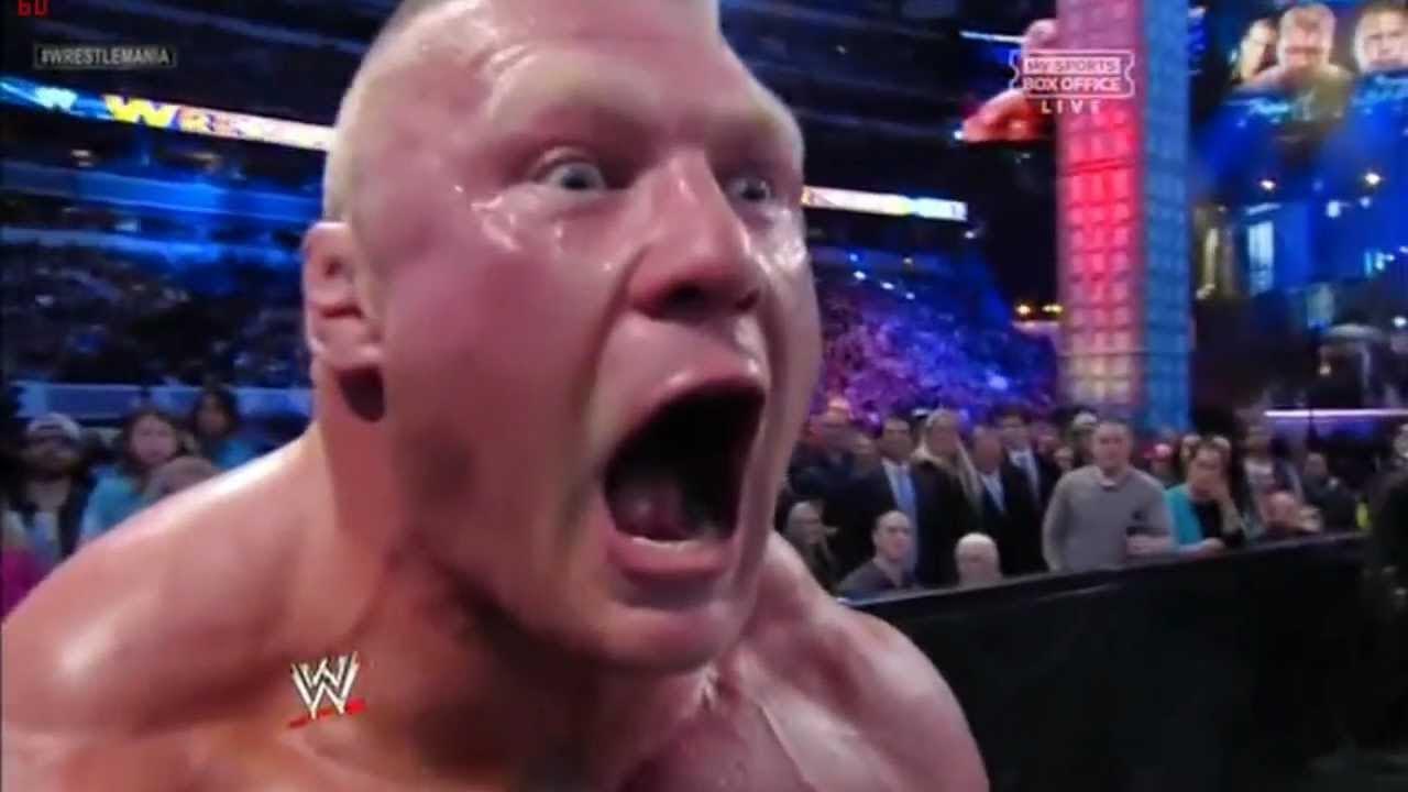 Brock lesnar funny screaming part 2 youtube