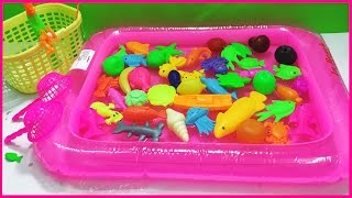 Đồ chơi trẻ em Đồ chơi câu cá bể phao lớn, đồ chơi câu cá pin với hơn 50 con cá (Chim Xinh)