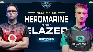 Elazer vs HeroMarine ZvT - Quarterfinal - WCS Challenger Europe