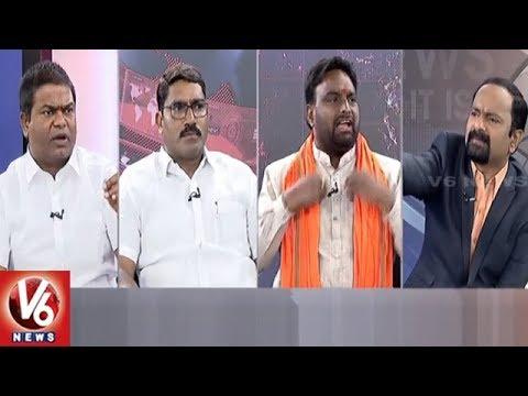 Special Debate On Komatireddy Attack On Swamy Goud | Good Morning Telangana | V6 News