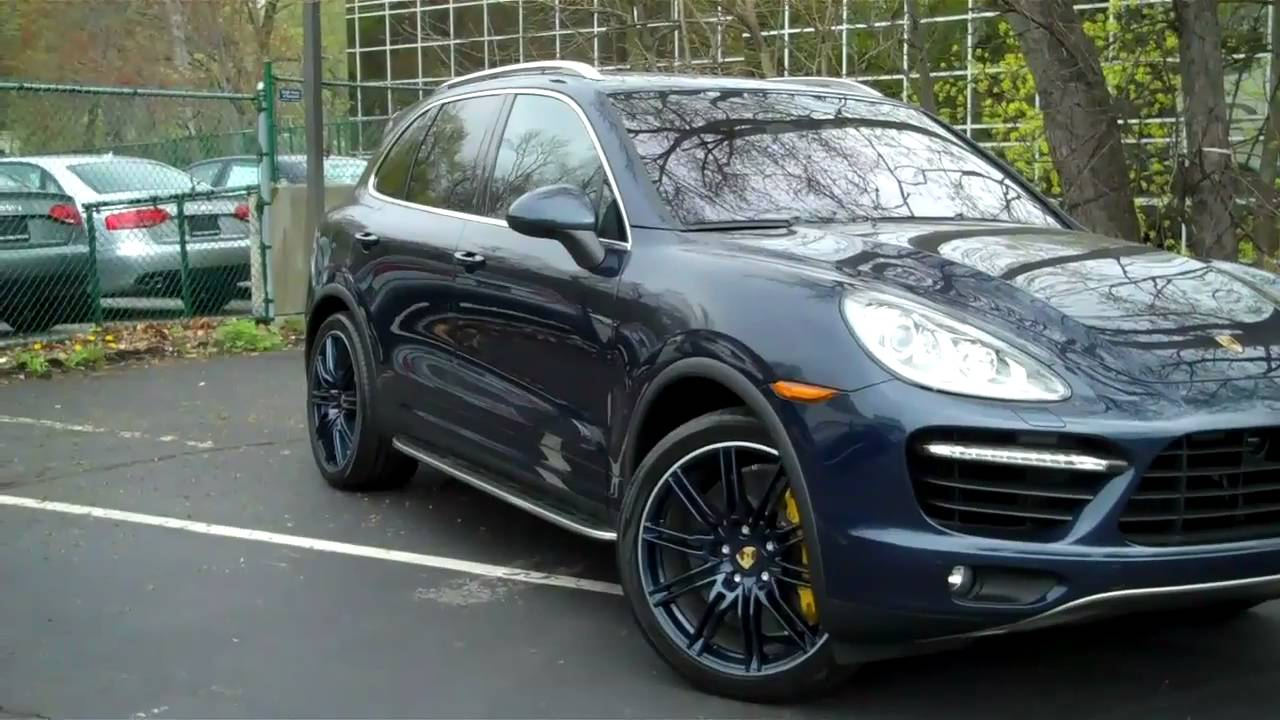 2011 Porsche Cayenne Turbo Dark Blue Exterior Black Titanium Youtube