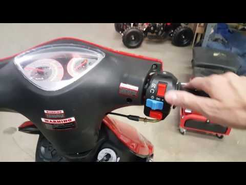 How To Start Your 50cc 150cc 250cc OR 300cc Scooter Adjust Idle & Pop Seat Trunk