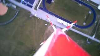 model rocket with onboard camera