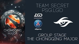Team Secret vs PSG.LGD | The Chongqing Major