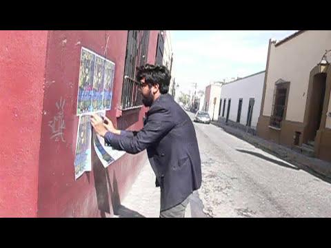 Corazon Attack - Pegando afiches en las calles