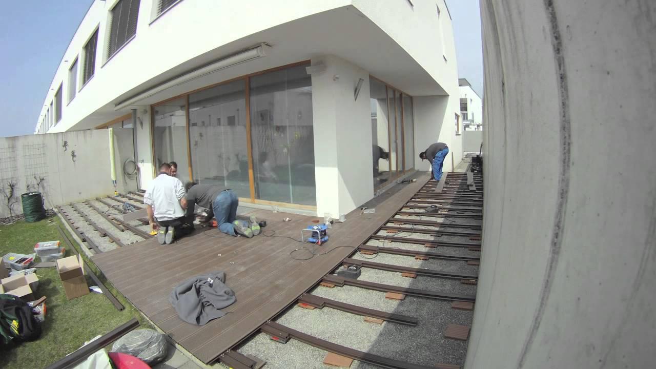 Terrasse Wpc Coop : Terrassenbau mit WPC Zeitraffer YouTube