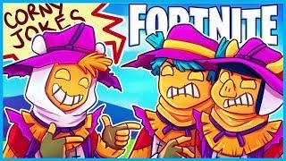 *CORNY* SCARECROW JOKES in Fortnite: Battle Royale! (Fortnite Funny Moments & Fails)
