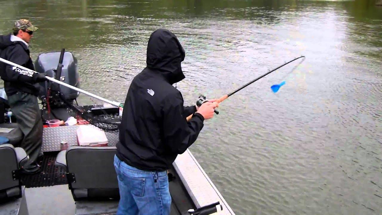 Willamette river spring chinook fishing youtube for Willamette river fishing report
