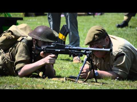 Bren Gun Demonstration - Fort Rodd Hill May 17, 2015