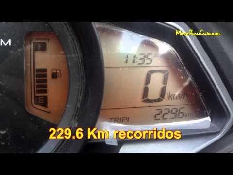 Rendimiento de combustible Pulsar 200NS
